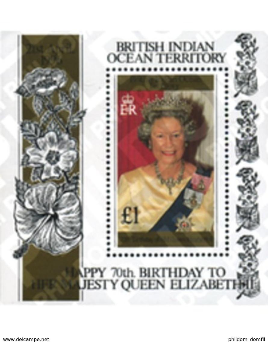 Ref. 349150 * MNH * - BRITISH INDIAN OCEAN TERRITORY. 1996. 70 ANIVERSARIO DE ISABEL II - British Indian Ocean Territory (BIOT)