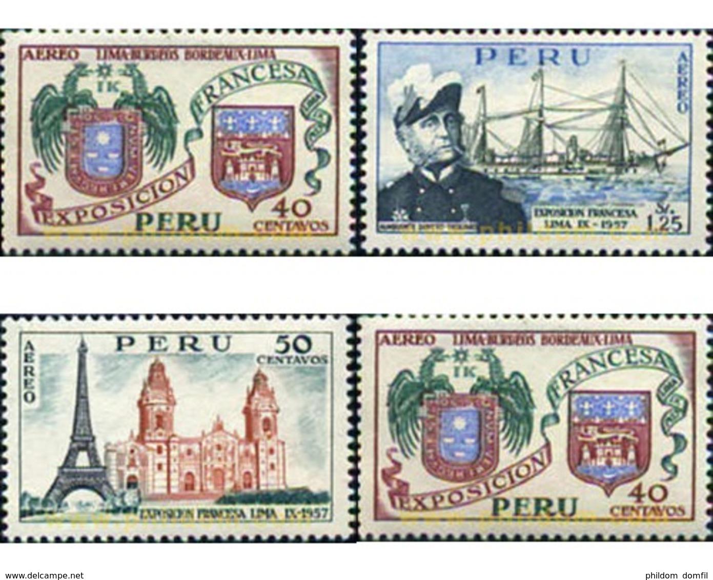Ref. 352161 * MNH * - PERU. 1957. EXPOSICION FRANCESA EN LIMA - Perù