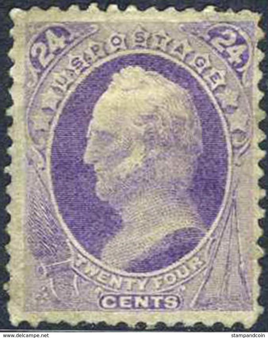 US #153 Mint Original Gum  Hinged 24c General Scott From 1870 - Unused Stamps
