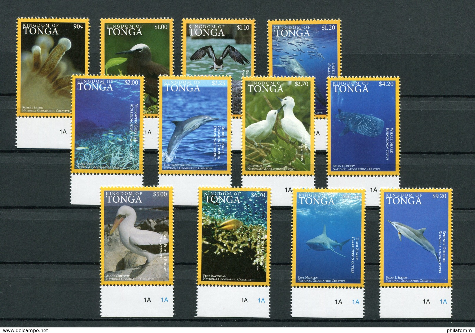 "Tonga - Mi.Nr. 2086 / 2097 - ""Meerestiere"" ** / MNH (aus Dem Jahr 2016) - Tonga (1970-...)"