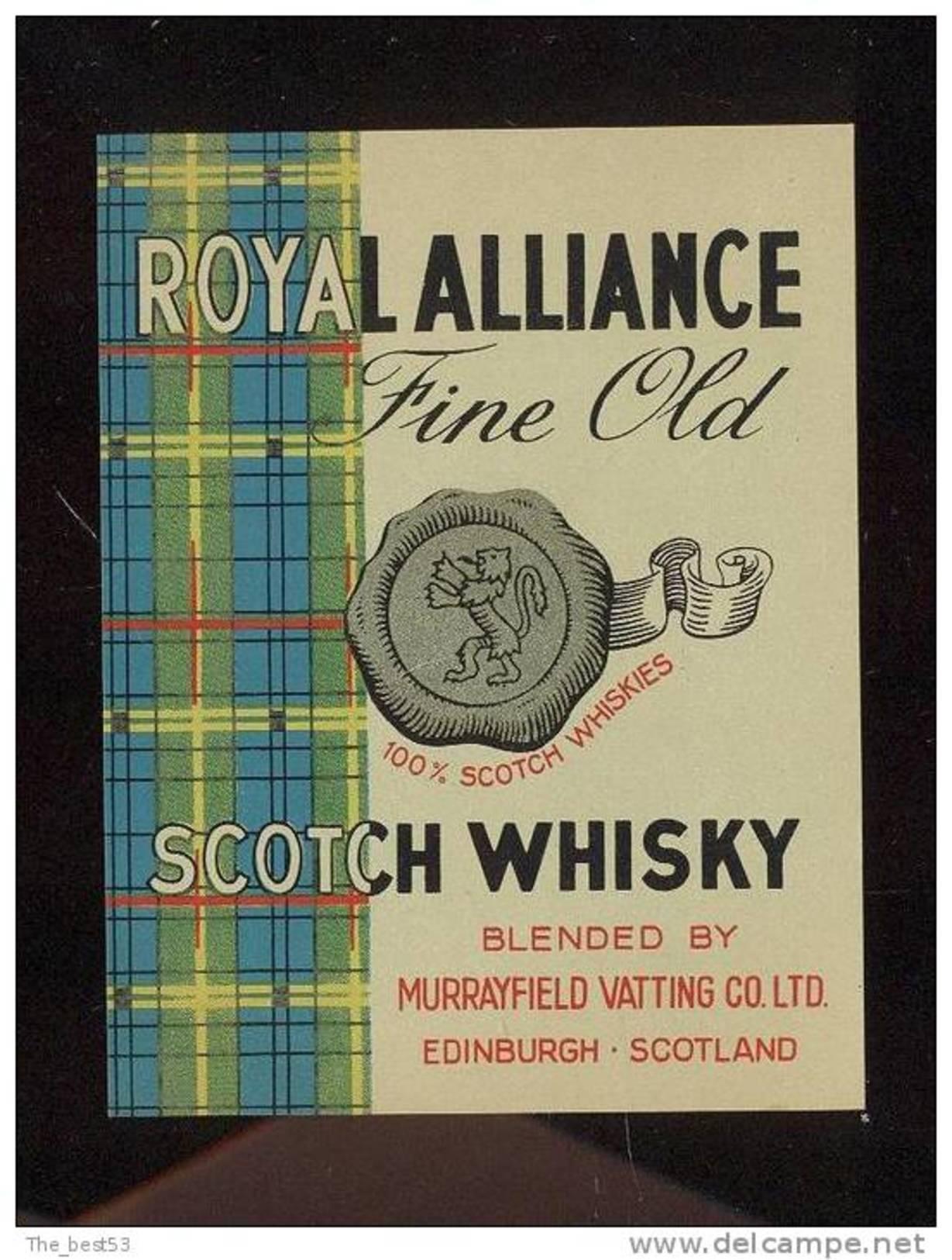 Etiquette Scotch Whisky    -   Royal Alliance  -  Ecosse - Whisky