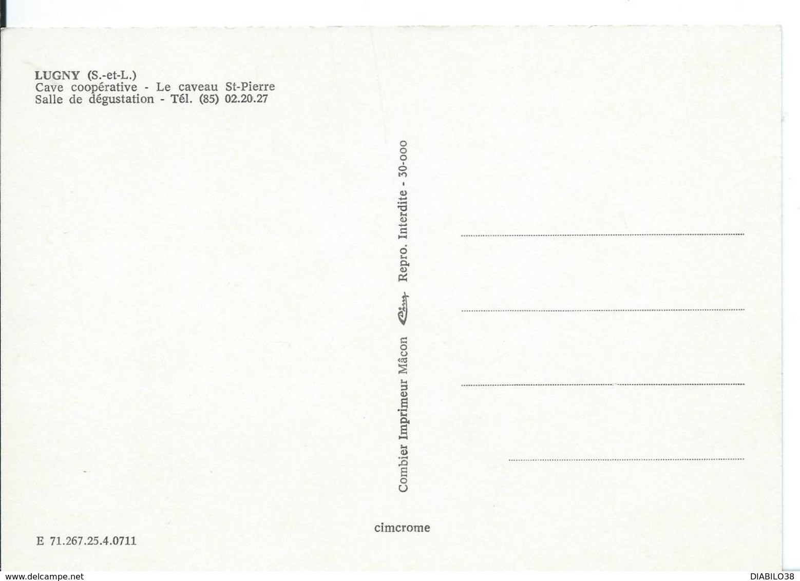 LUGNY    (SAÔNE ET LOIRE  ) LE CAVEAU  SAINT-PIERRE_ SALLE DE DÉGUSTATION - Francia
