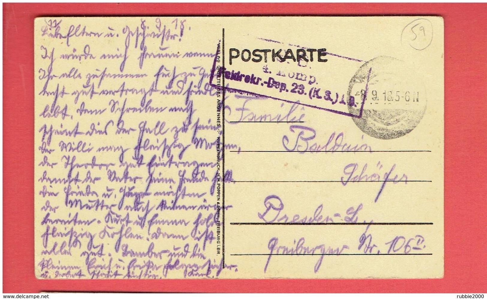 MAUBEUGE 1918 CARTE ALLEMANDE OCCUPATION GUERRE 1914 1918 WWI CARTE EN BON ETAT - Maubeuge