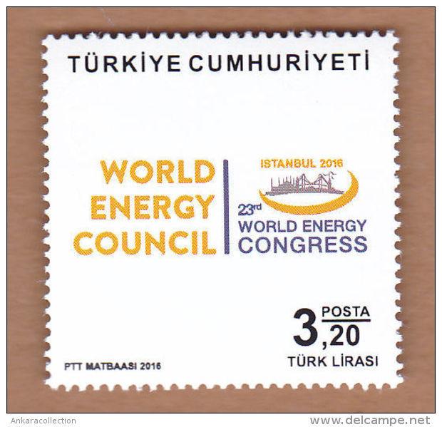 AC - TURKEY STAMP  -  23th WORLD ENERGY CONGRESS MNH 09 OCTOBER 2016 - Neufs