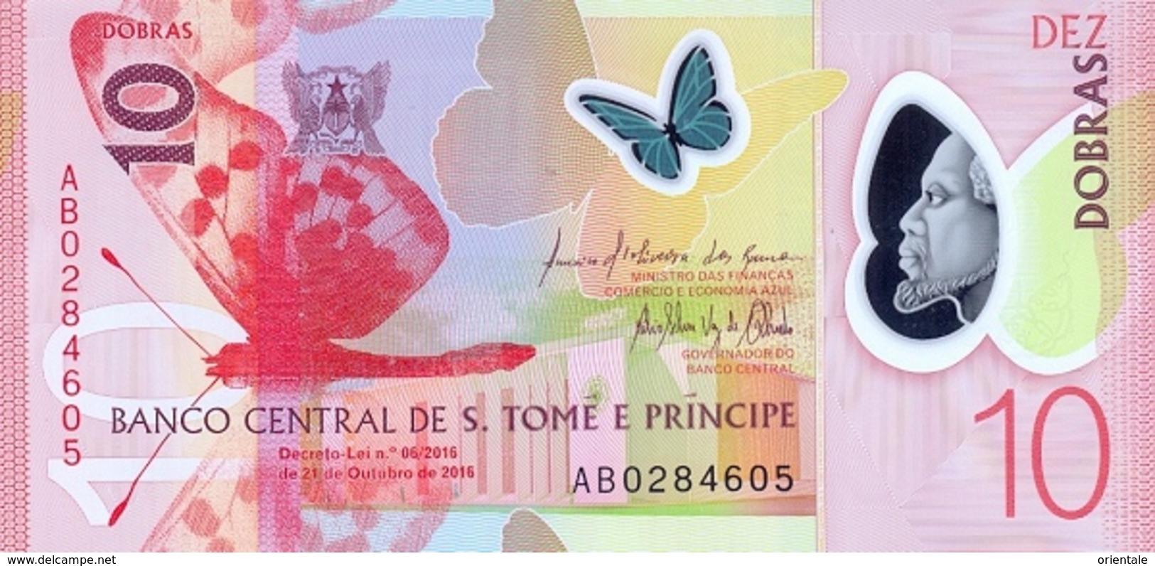 SAO TOME E PRINCIPE P. 71 10 D 2016 UNC - Sao Tome And Principe