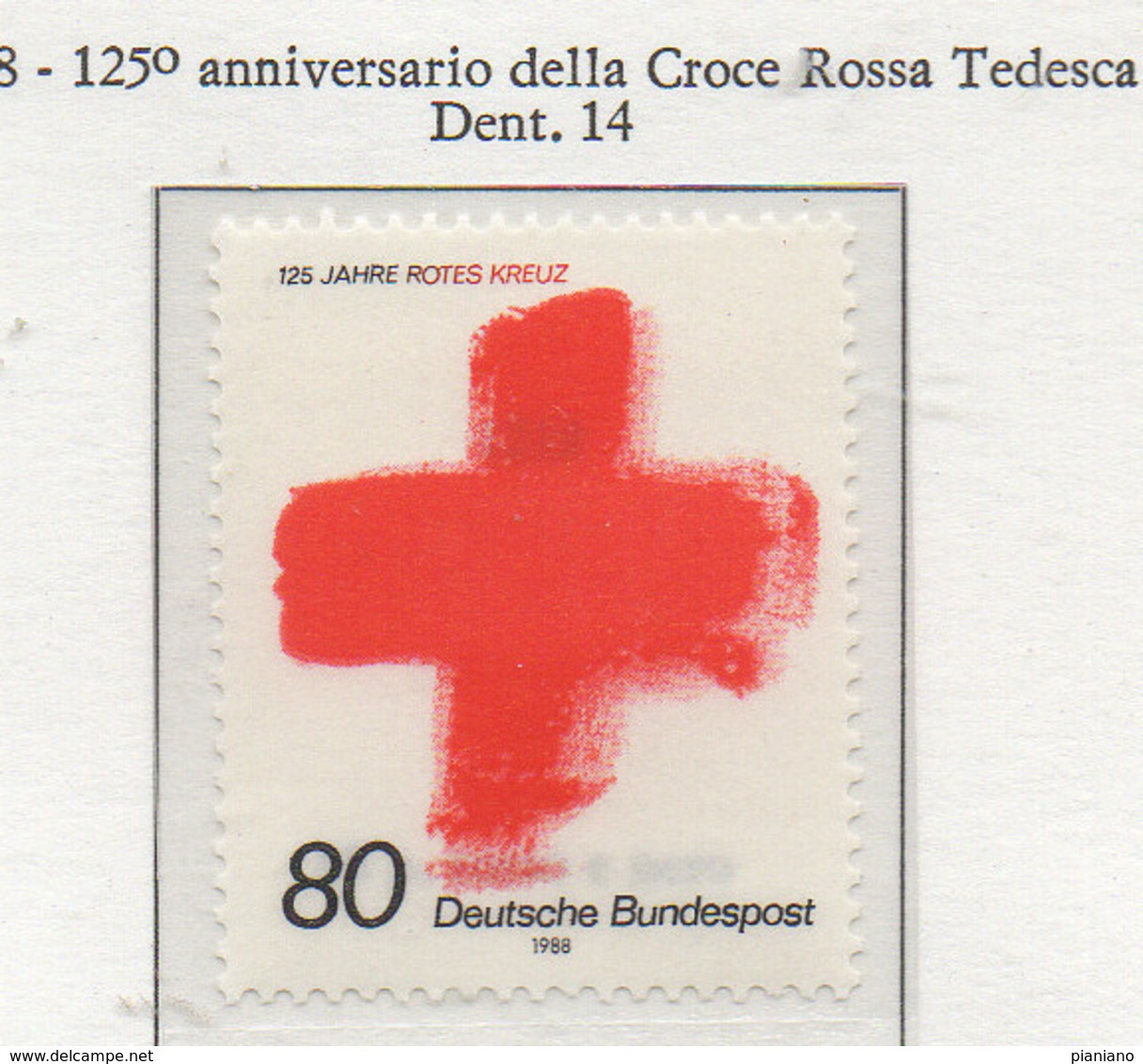 PIA - GERMANIA : 1988 : 125° Anniversario Della Croce Rossa Tedesca - (Yv 1219) - Primo Soccorso