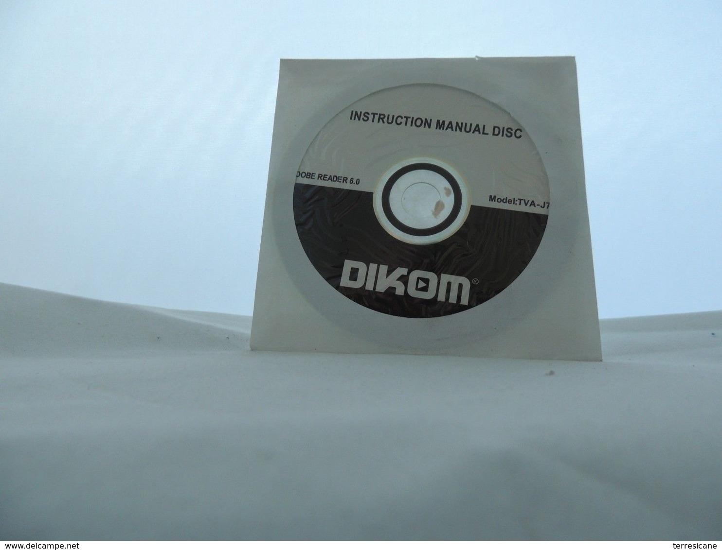 G4 DIKOM INSTRUCTION MANUAL DISC ADOBE READER 6.0 MODEL TVA J70B - Altre Collezioni