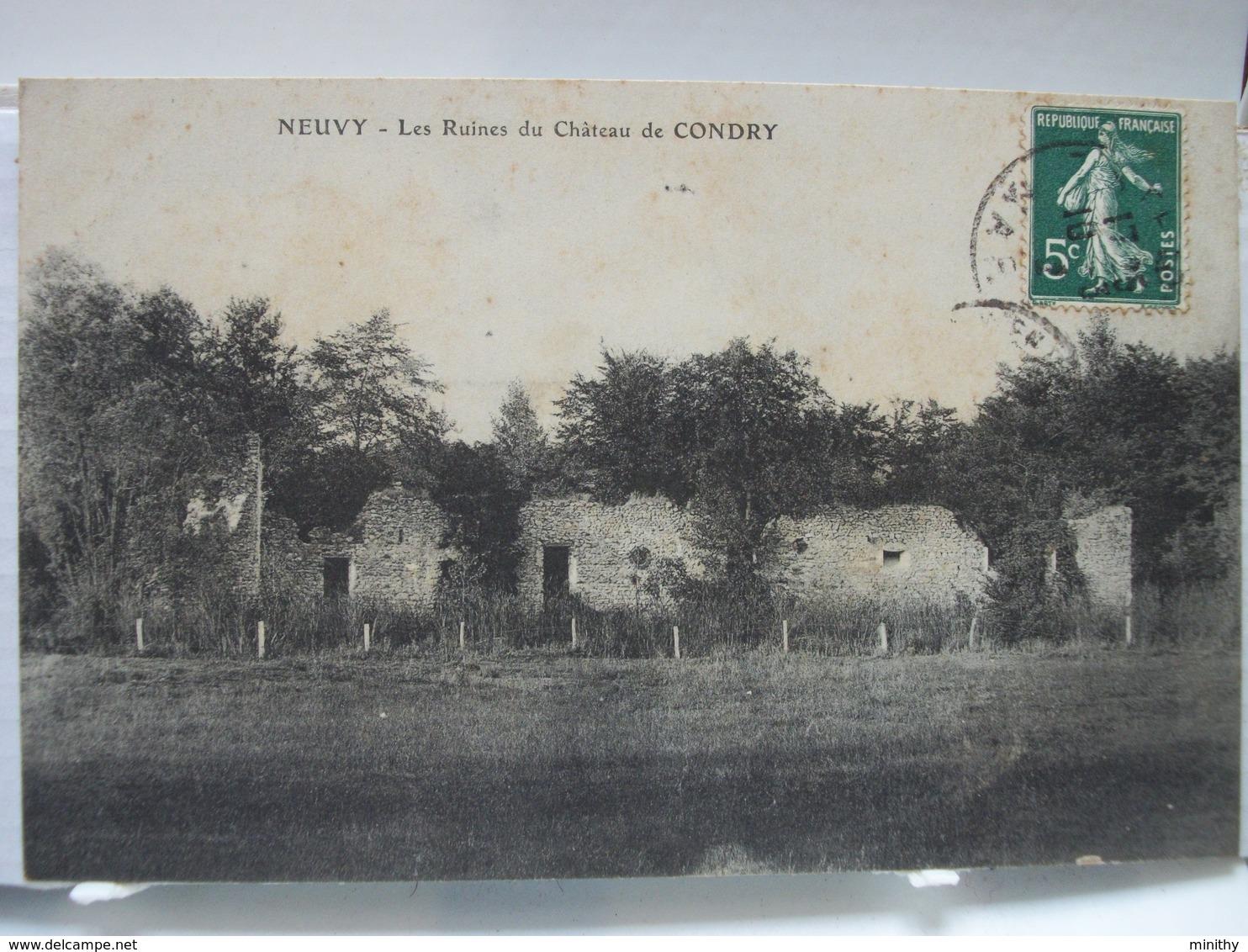 NEUVY  -  Ruines Du Château De CONDRY - Sezanne