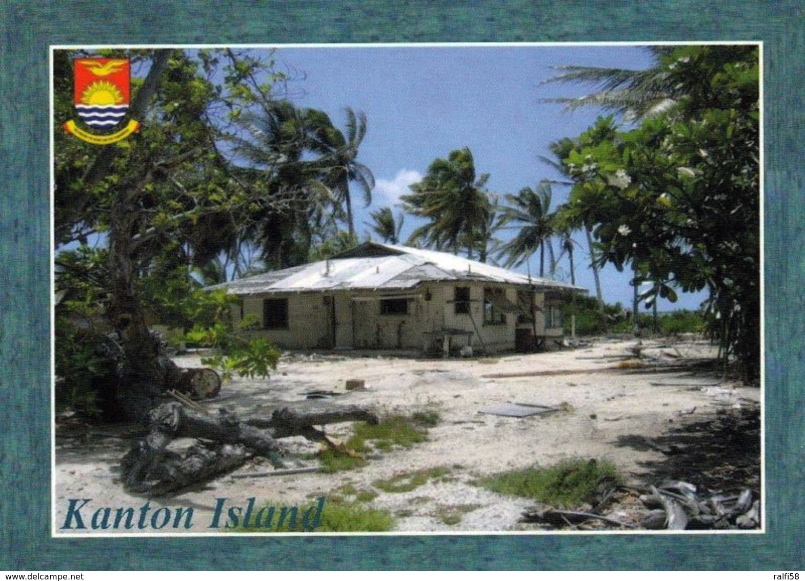 1 AK Kiribati * Ansicht Von Kanton Island - Das Größte Und Einzig Bewohnte Atoll Der Phoenixinseln * - Kiribati