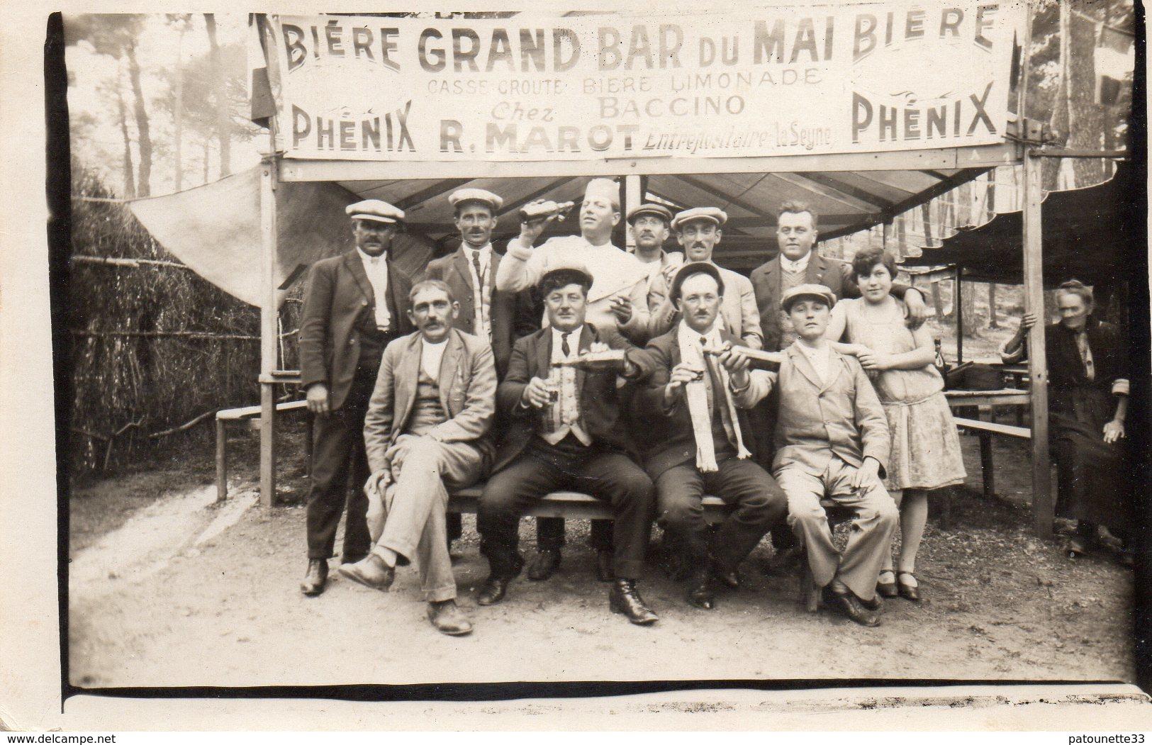 83 LA SEYNE SUR MER CARTE PHOTO GRAND BAR DU MAI CHEZ PACCINO CLICHE UNIQUE - La Seyne-sur-Mer