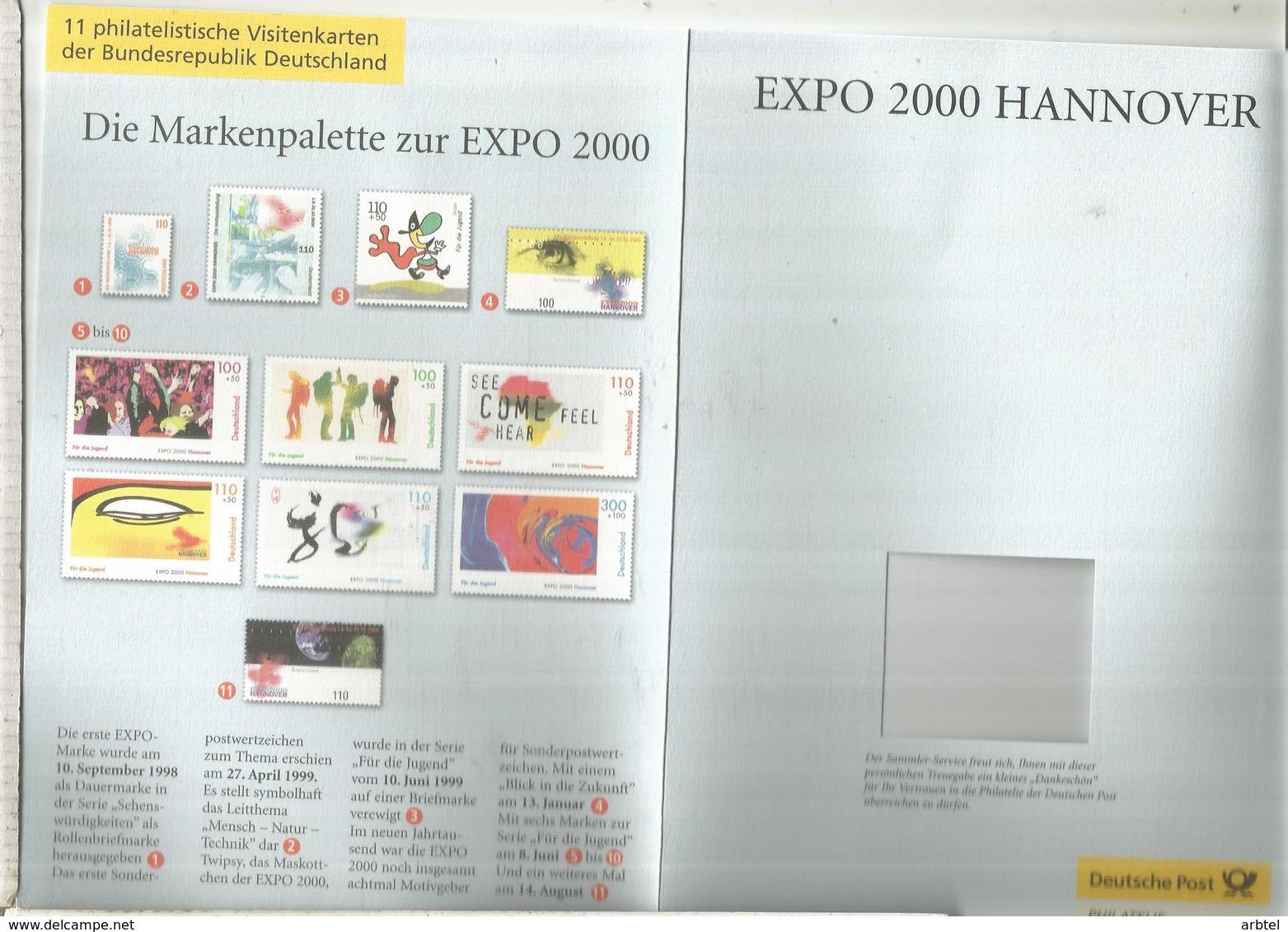 ALEMANIA DOCUMENTO EXPO 2000 HANNOVER - 2000 – Hanover (Germany)