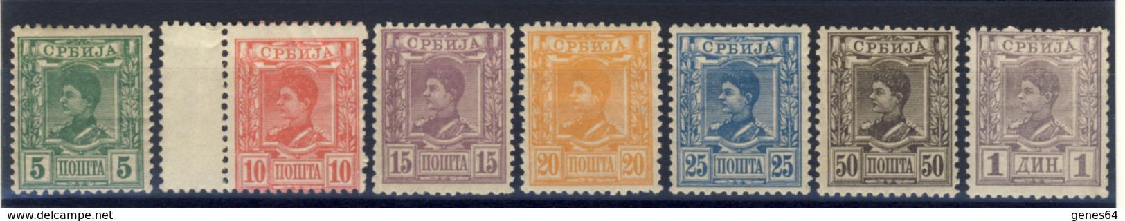 1890 - Effige Di Re Alessandro I - Serie Mista Mlh/MNH** - Serbien