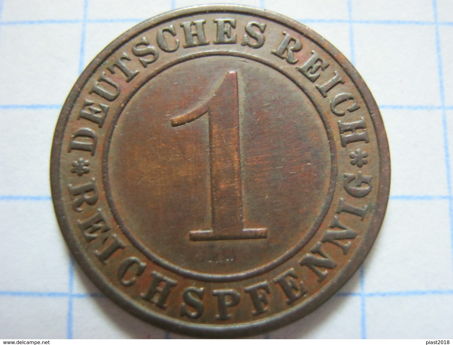 1 Reichspfennig 1931 (A) - 1 Rentenpfennig & 1 Reichspfennig