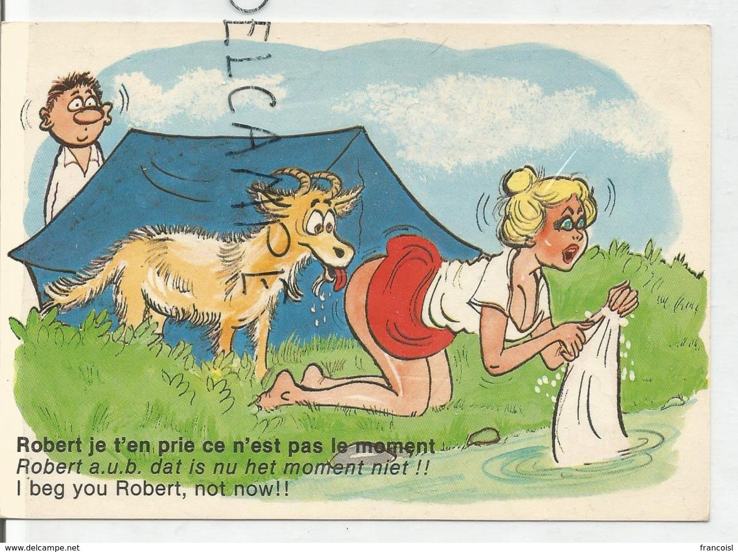 """Campeuse Et Chèvre:"""" Robert, Je T'en Prie, Ce N'est Pas Le Moment"""". - Humour"""