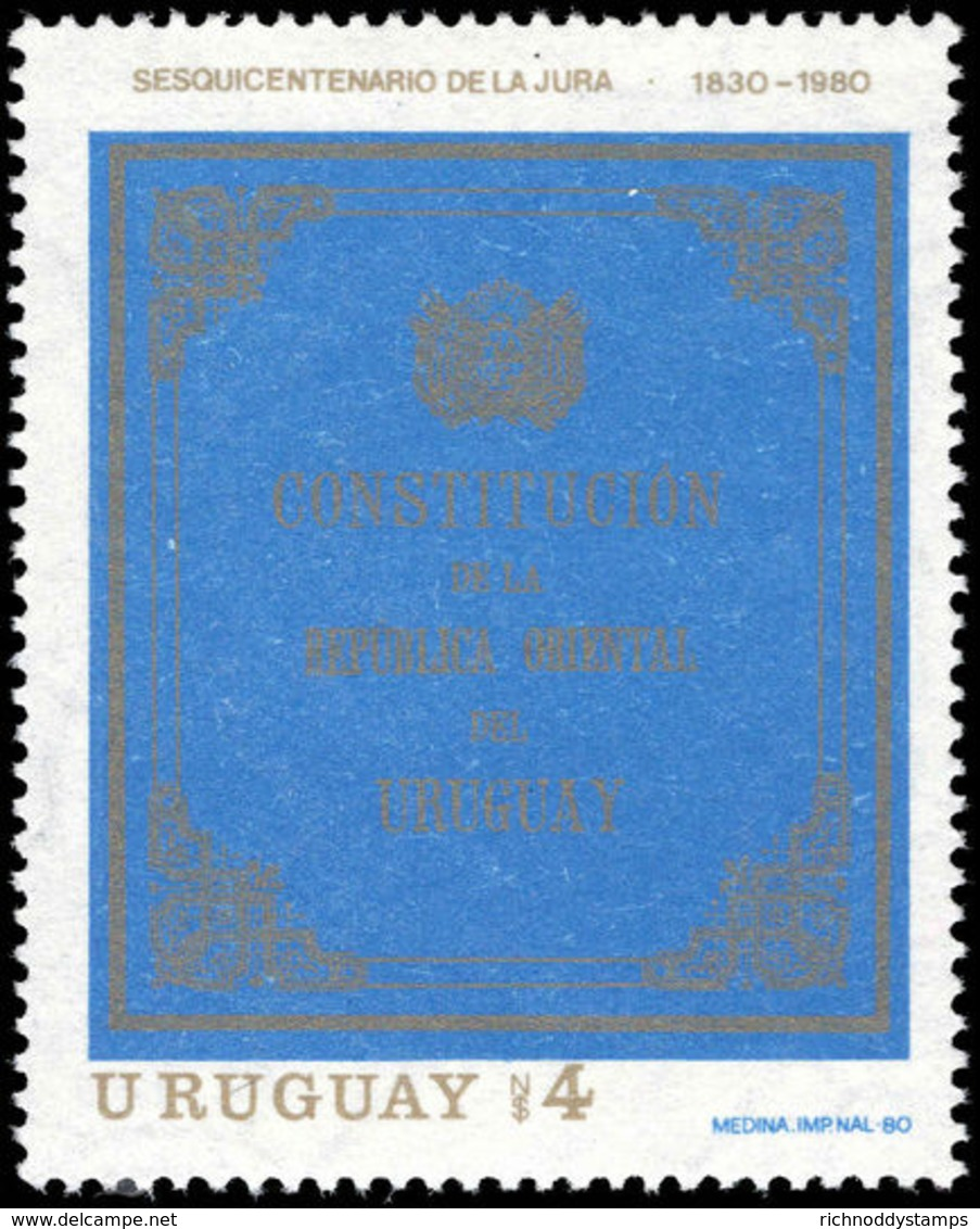 Uruguay 1980 Constitution Unmounted Mint. - Uruguay