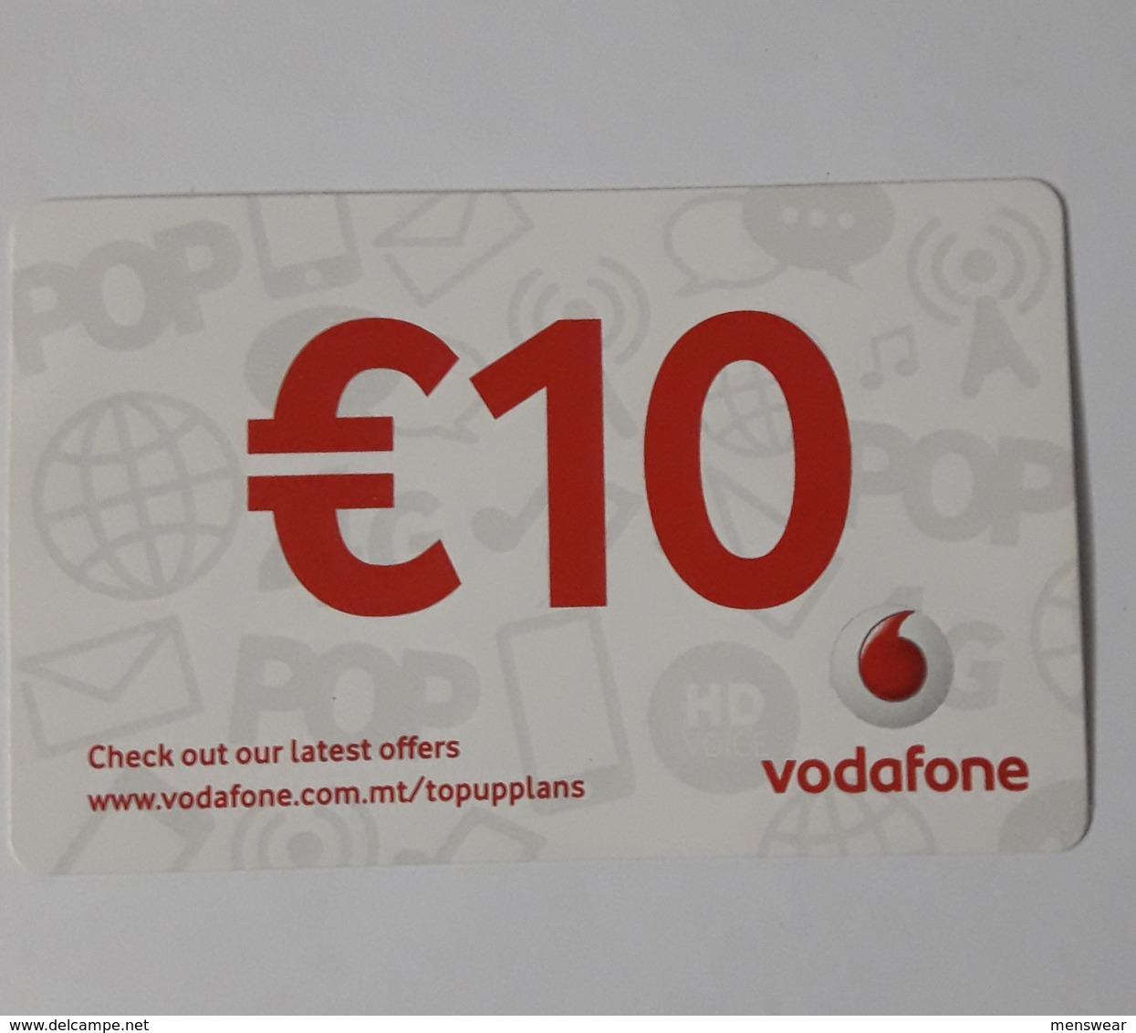 MALTA - VODAFONE  PHONECARD  10  EUROS   2019 - Malta