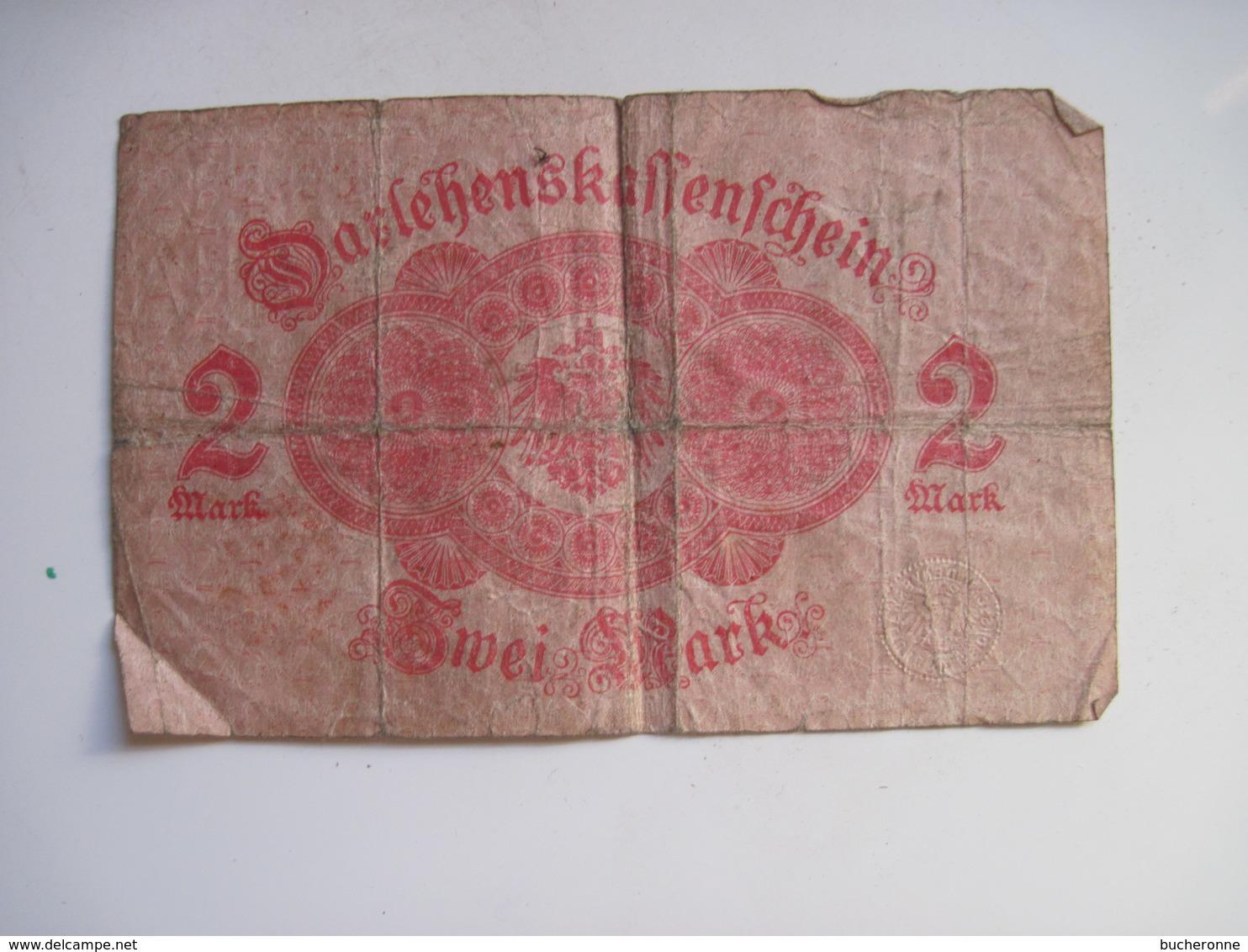 3 BILLETS  ALLEMAGNE 2 MARK 12 Aout 1914 & 1 M 1914 - [ 2] 1871-1918 : Impero Tedesco