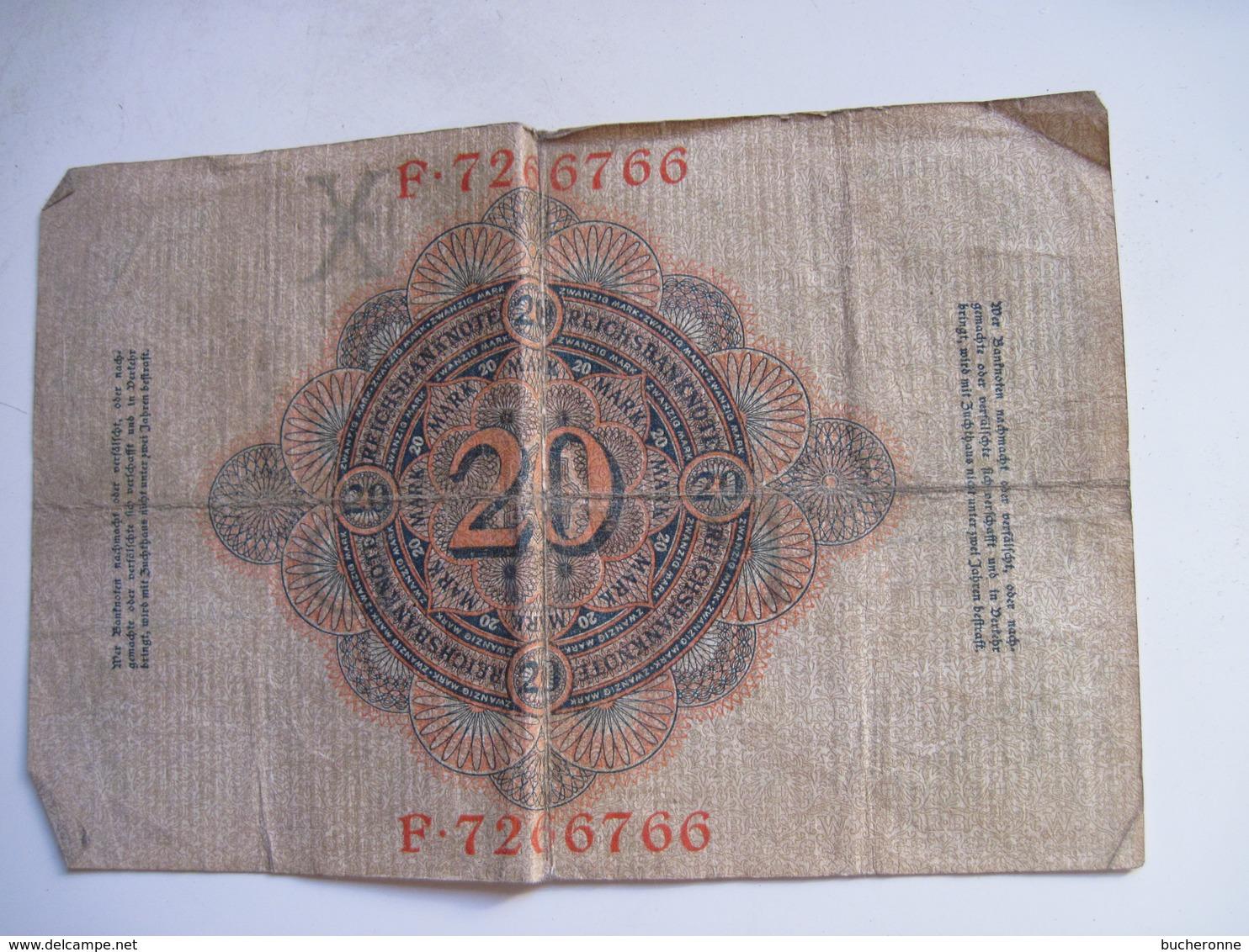 BILLETS  ALLEMAGNE 20 MARK 1910 - [ 2] 1871-1918 : Impero Tedesco