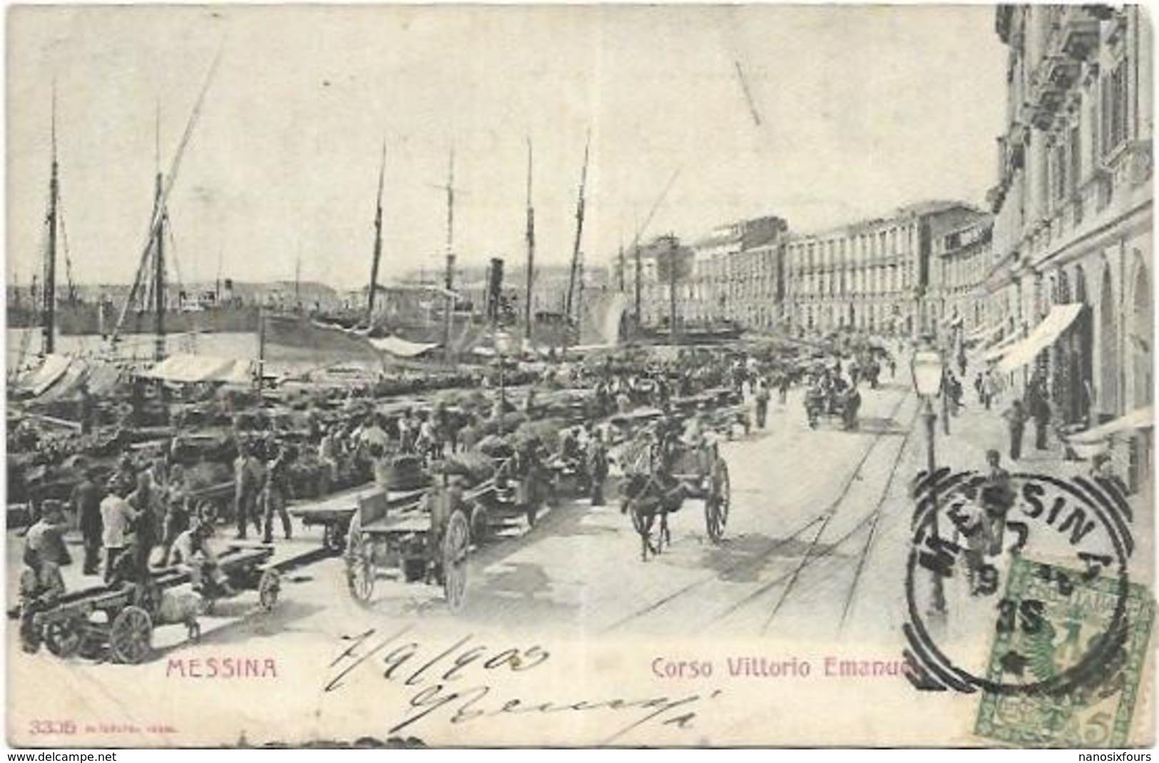 ITALIE.  MESSINA. LOT DE 3 CARTES DE 1903 - Messina
