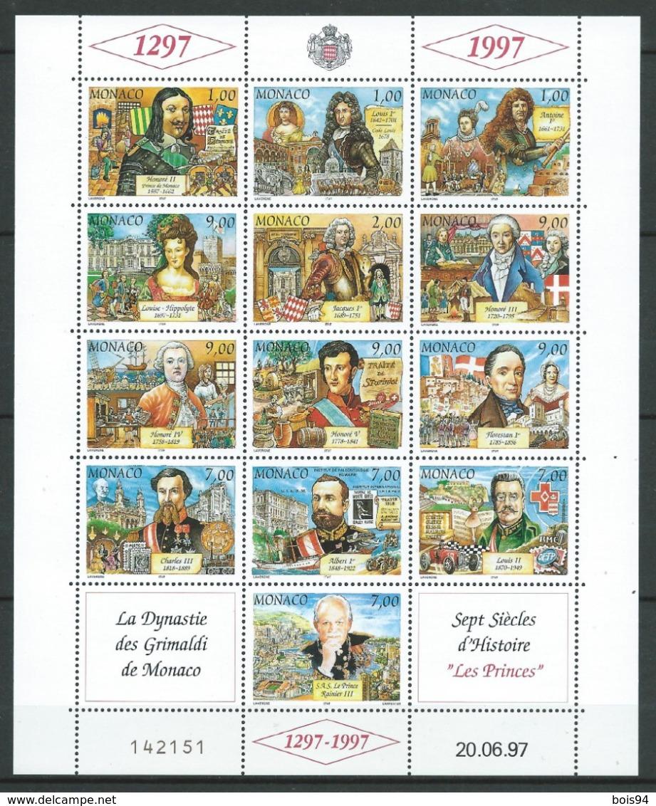 MONACO 1997 . Série N°s 2112 à 2124 En Feuille . Neufs ** (MNH) - Monaco
