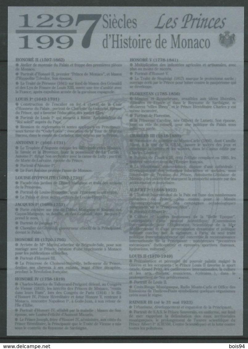 MONACO 1997 . Série N°s 2112 à 2124 En Feuille . Neufs ** (MNH) - Neufs