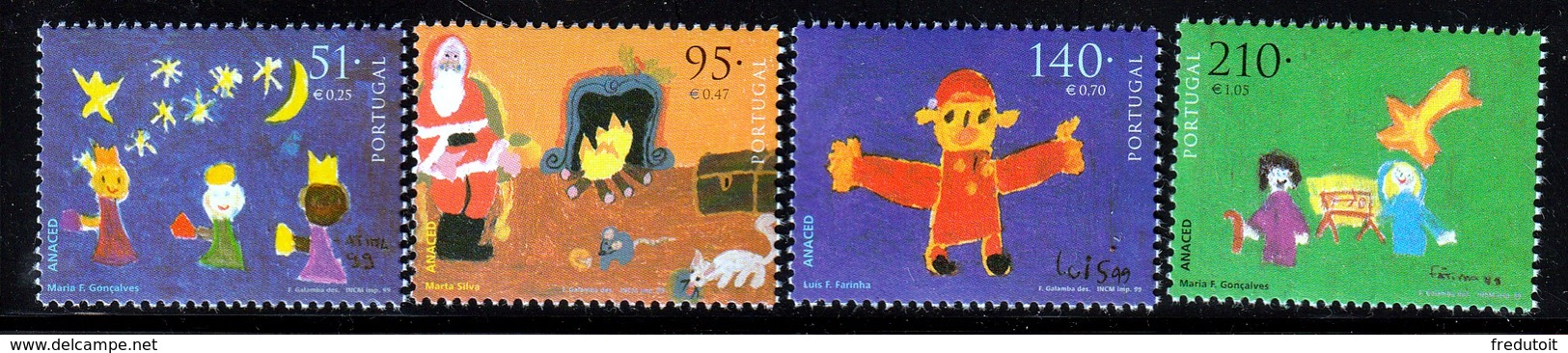 PORTUGAL - N°2361/4 ** (1999) Noël - Nuovi