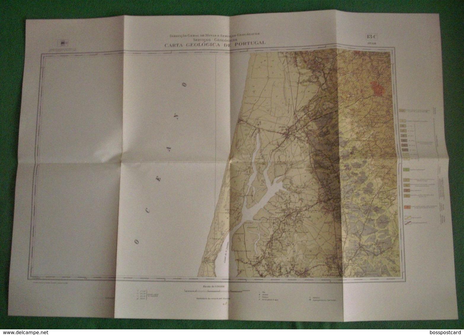 Ovar - Carta Geológica De Portugal + Mapa. Aveiro. - Geographical Maps