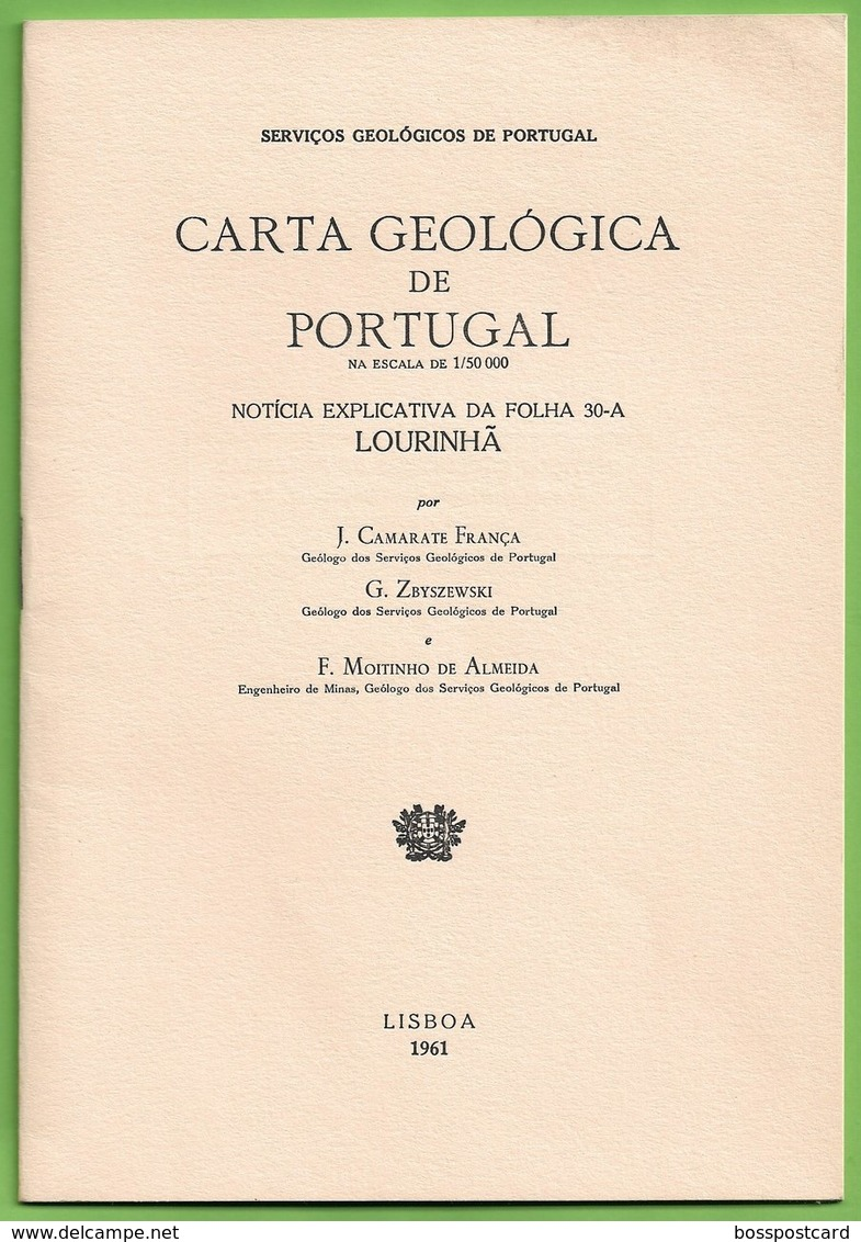 Lourinhã - Carta Geológica De Portugal + Mapa -  Peniche - Geographical Maps