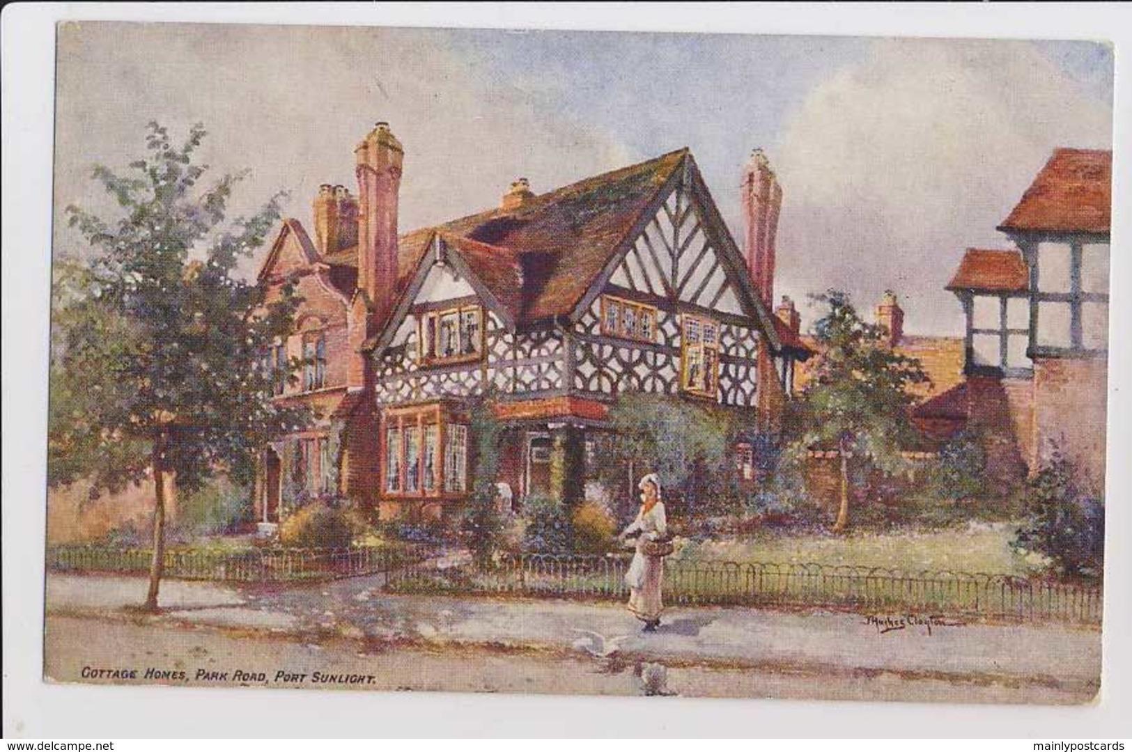 AI77 Cottage Homes, Park Road, Port Sunlight - Artist Signed - England