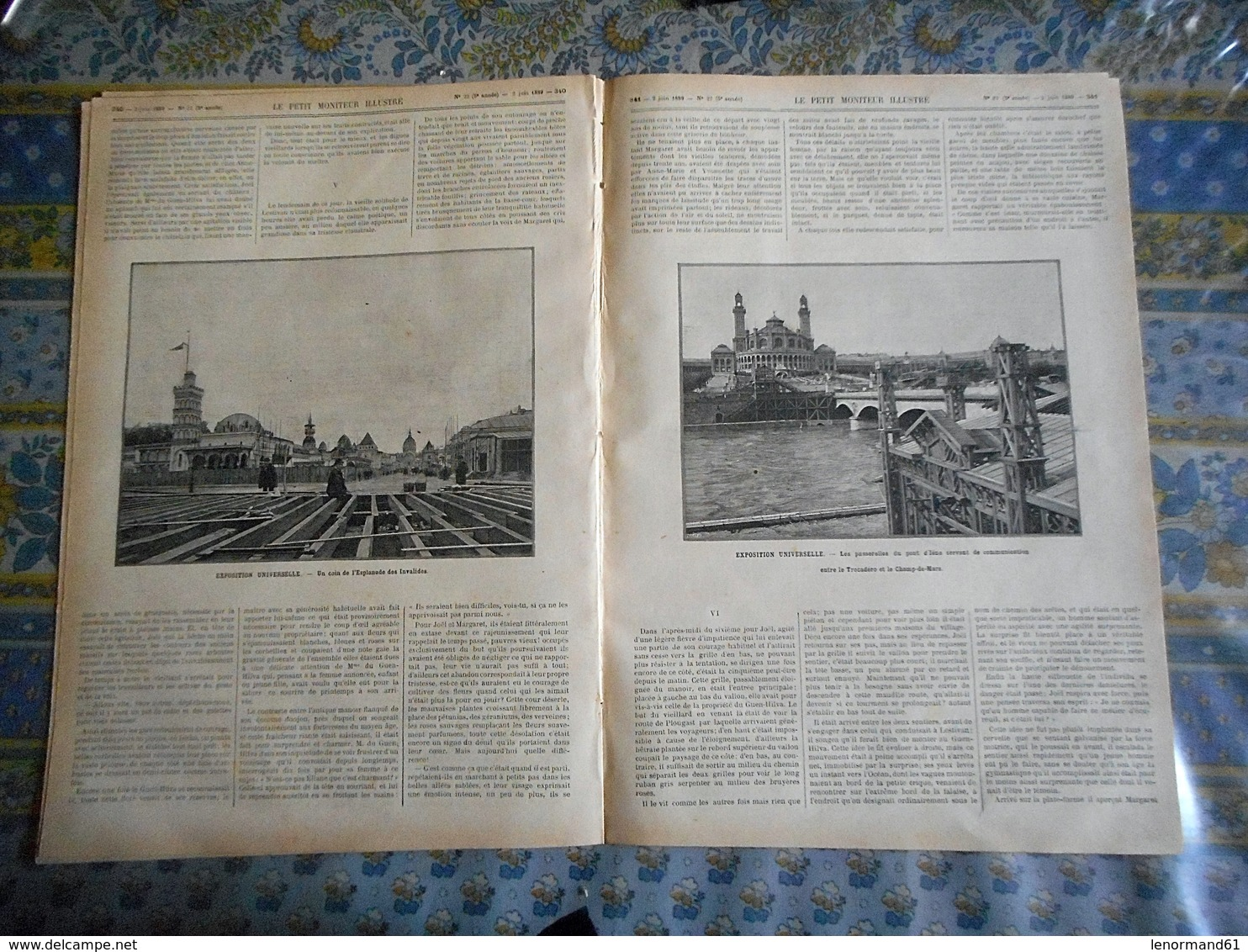 LE PETIT MONITEUR ILLUSTRE 02/06/1889 EXPOSITION UNIVERSELLE PARIS JULES COUTAN INVALIDES PONT IENA TOUR EIFFEL RESTAURA - 1850 - 1899