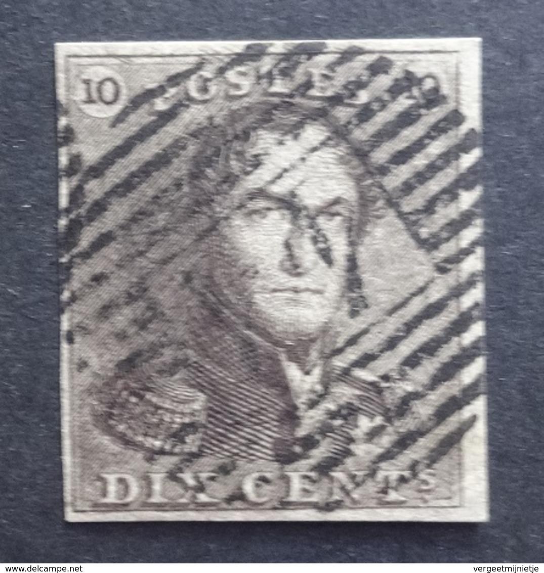 BELGIE  1849   Nr.  1 E    Goed Gerand / Centraal Gestempeld  P 44  - Coba 40     CW  160,00 - 1849 Epaulettes