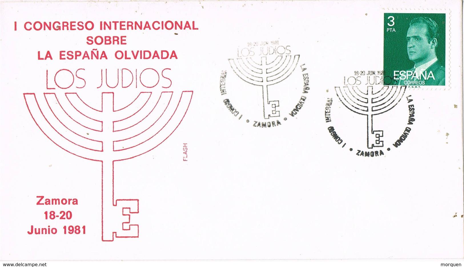 33591. Carta ZAMORA 1981. Congreso Internacional España Olvidada. JUDIOS - 1931-Hoy: 2ª República - ... Juan Carlos I