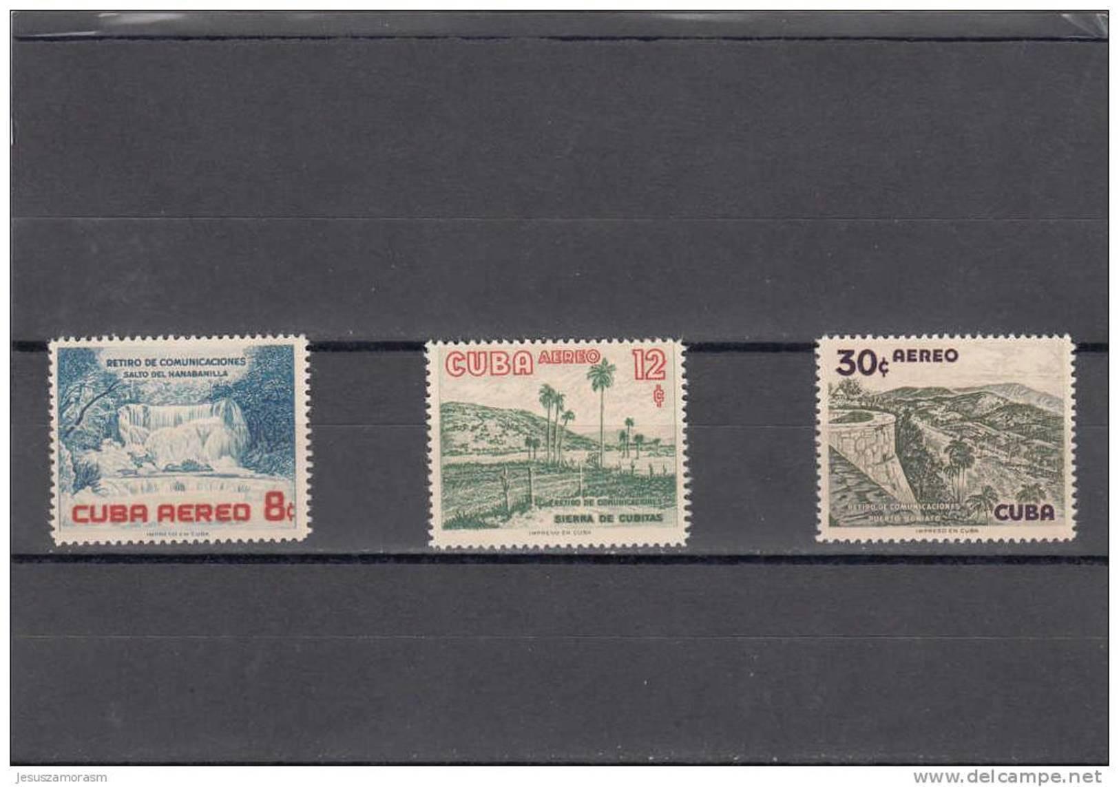 Cuba Nº A153 Al A155 - Aéreo