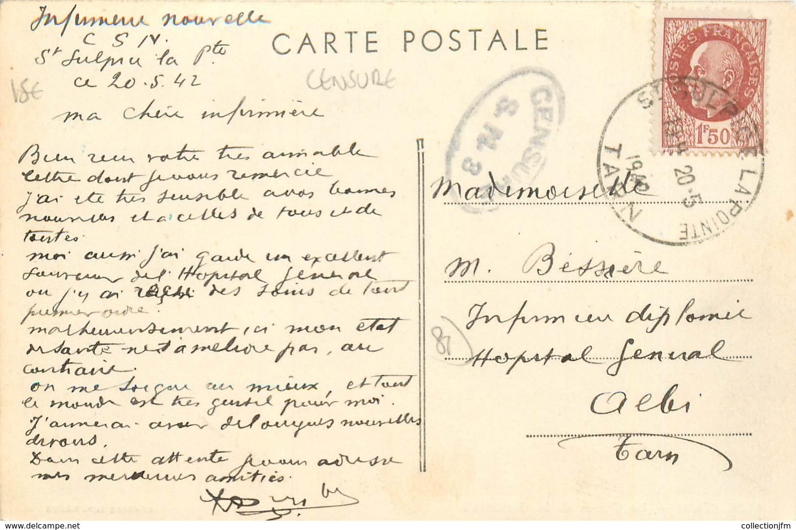 """MARCOPHILIE 2 EME GUERRE Sur CPA FRANCE 81 """"Abi"""" / CENSURE - Guerres"""