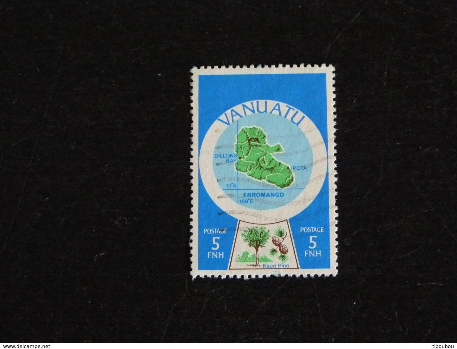 VANUATU YT 596 OBLITERE - CARTE CARTOGRAPHIE DES ILES DU VANUATU - Vanuatu (1980-...)