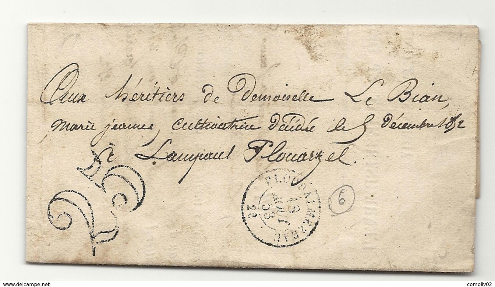 Finistère - Ploudalmézeau Pour Lampaul Plouarzel - Postmark Collection (Covers)