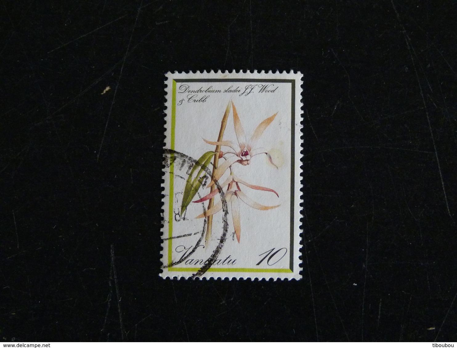 VANUATU YT 645 OBLITERE - ORCHIDEE FLEUR FLORE FLOWER DENDROBIUM - Vanuatu (1980-...)