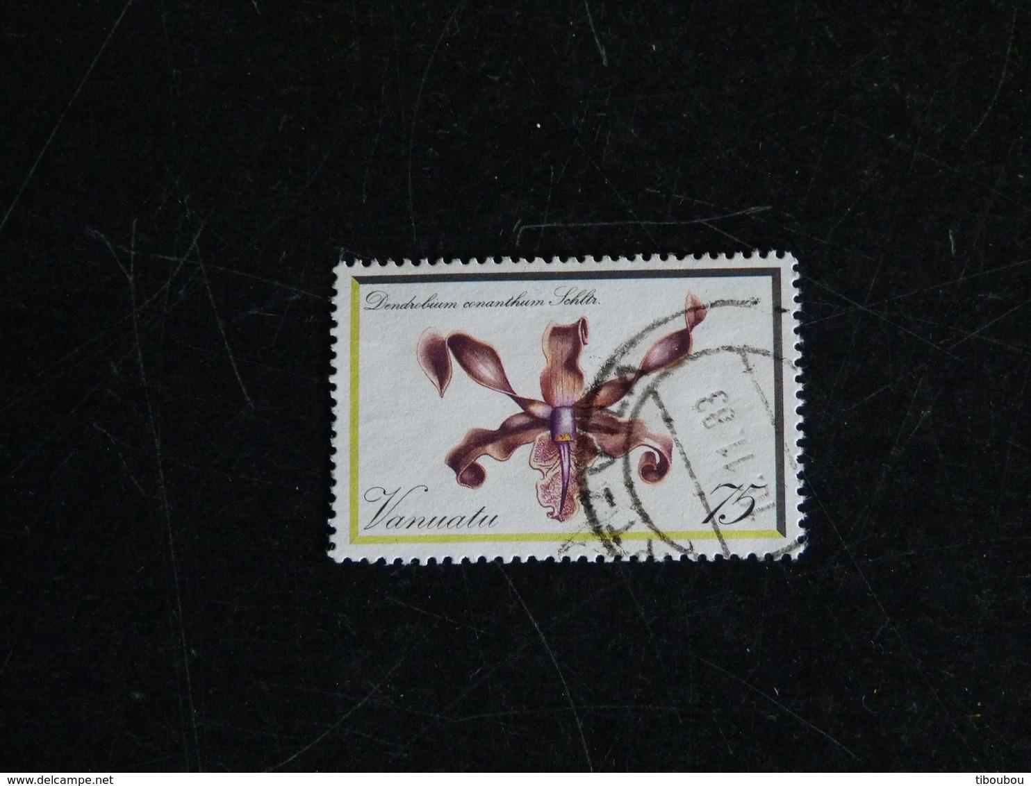 VANUATU YT 653 OBLITERE - ORCHIDEE FLEUR FLORE DENDROBIUM - Vanuatu (1980-...)