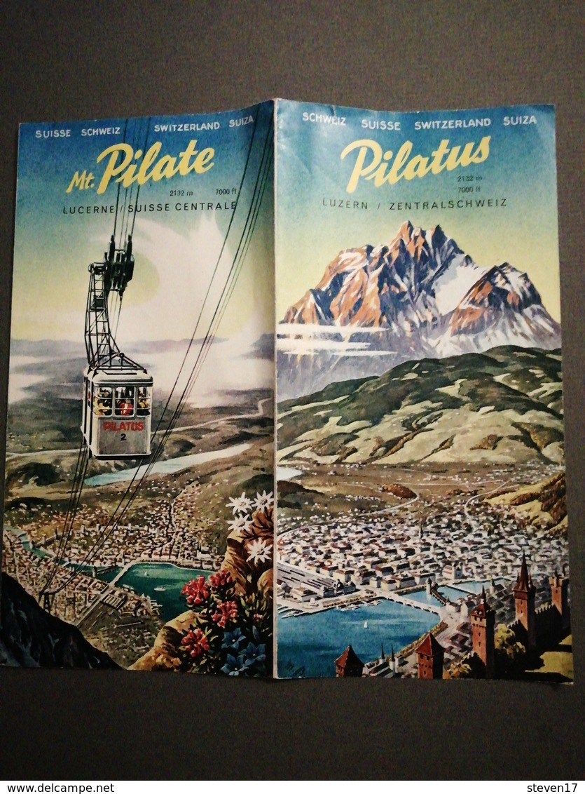 SUISSE / PILATUS LUCERNE - SUISSE CENTRAL - Tourism Brochures