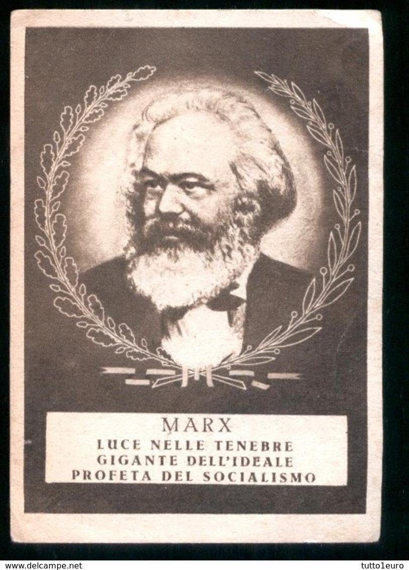 VOTAZIONI POLITICHE DEL 1948 - IMMAGINETTA DI PROPAGANDA DEL FRONTE DEMOCRATICO POPOLARE CON KARL MARX - Pubblicitari