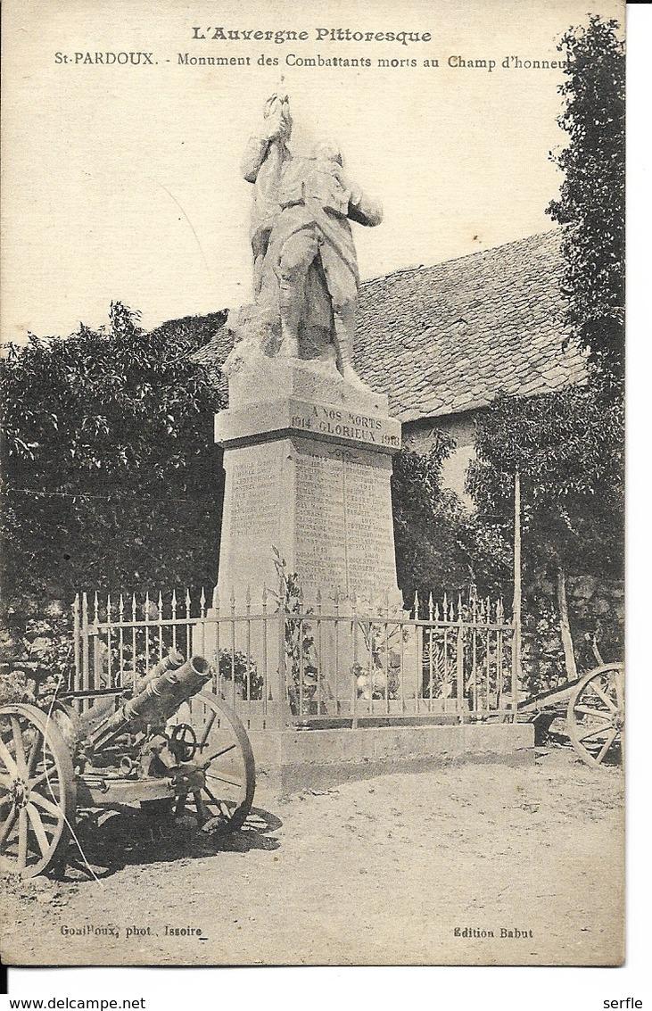 63 - Saint-Pardoux - Monument Des Combattants Morts Au Champ D'Honneur - Altri Comuni