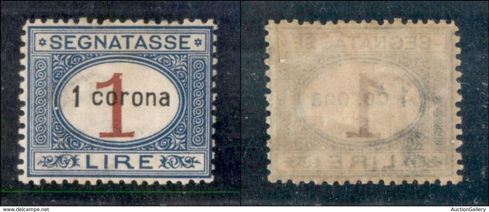 Occupazioni I Guerra Mondiale - Dalmazia - 1922 - 1 Corona Su 1 Lira (2) - Gomma Originale (20) - Non Classés