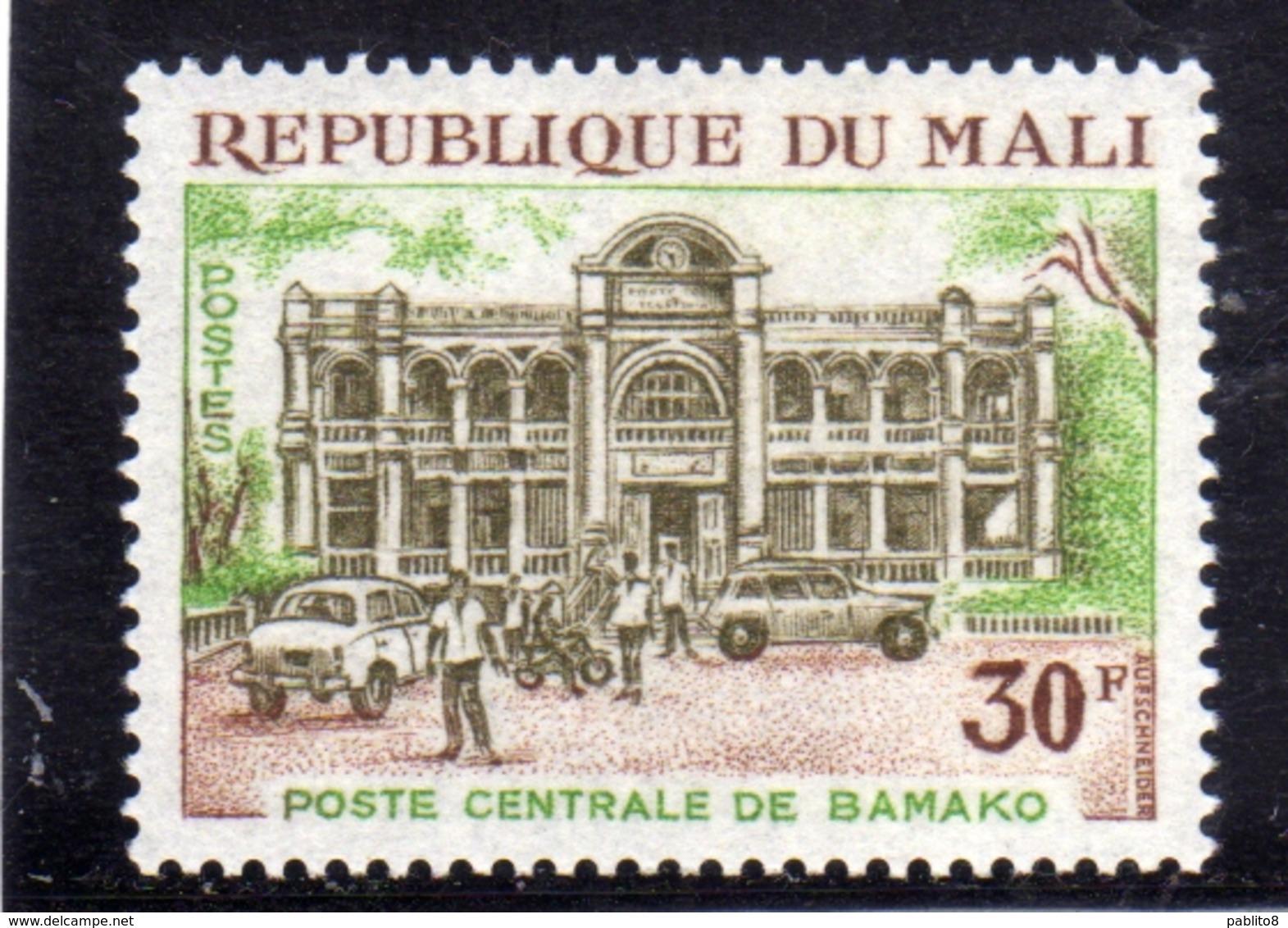 MALI 1970 PUBLIC BUILDINGS CENTRAL POST OFFICE POSTE CENTRALE BAMAKO 30f MNH - Mali (1959-...)