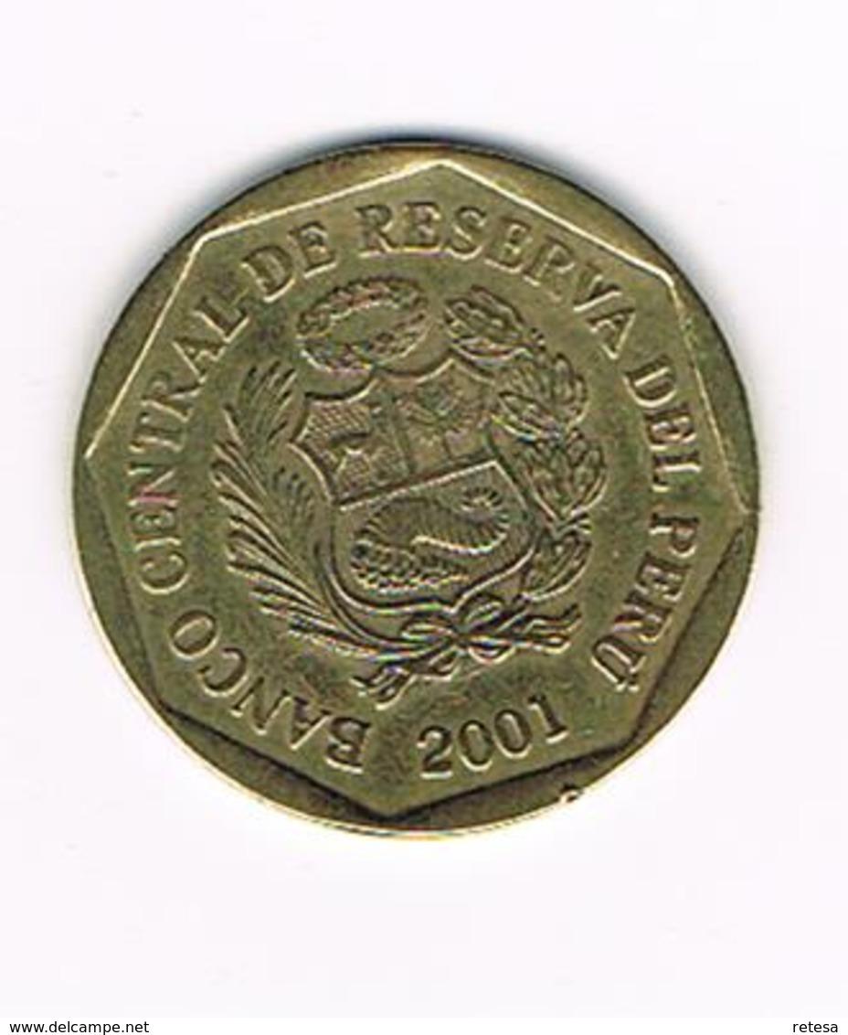//  PERU  20  CENTIMOS  2001 - Pérou