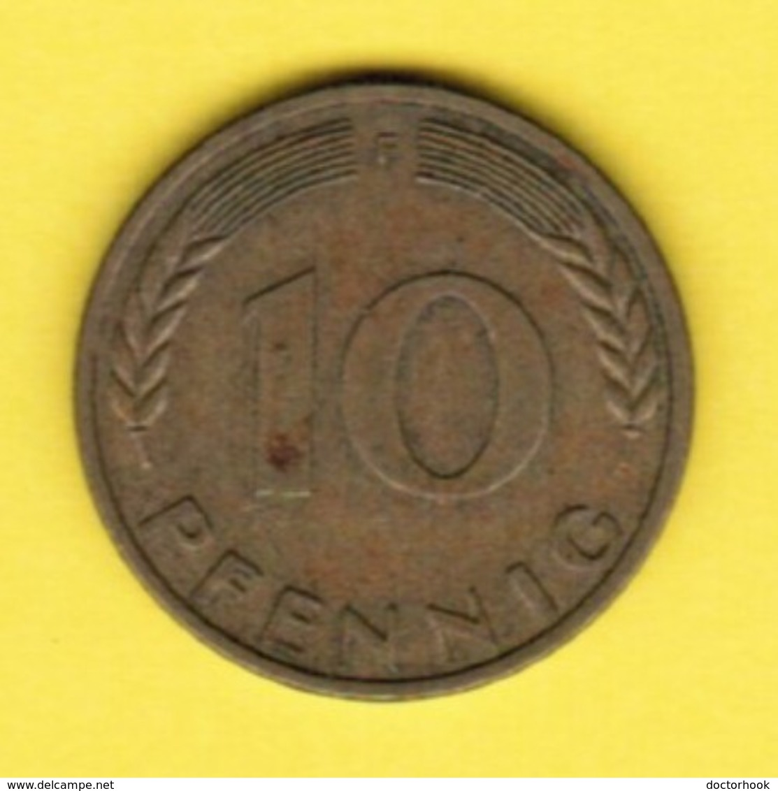 """GERMANY  10 PFENNIG 1950 """"F"""" (KM # 108) #5340 - 10 Pfennig"""