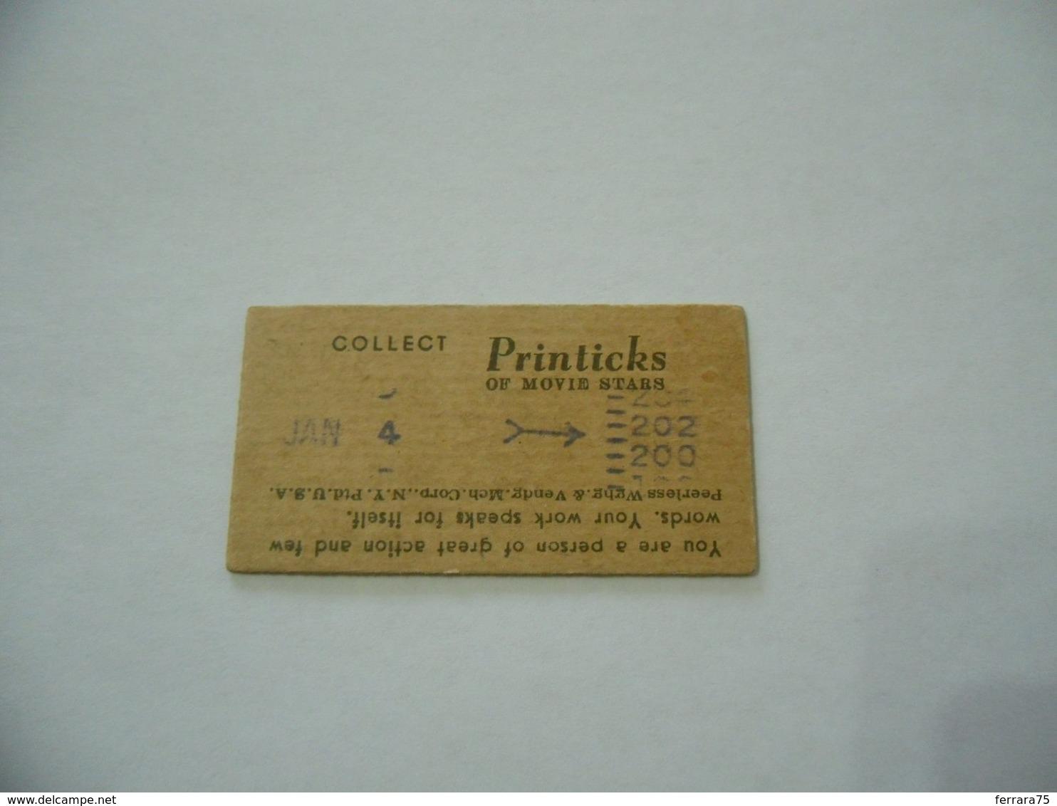 BIGLIETTO TRAM CINEMA PRINTICK OF MOVIE STAR MARY LEE REAL PHOTO CARD 1940 - Altre Collezioni