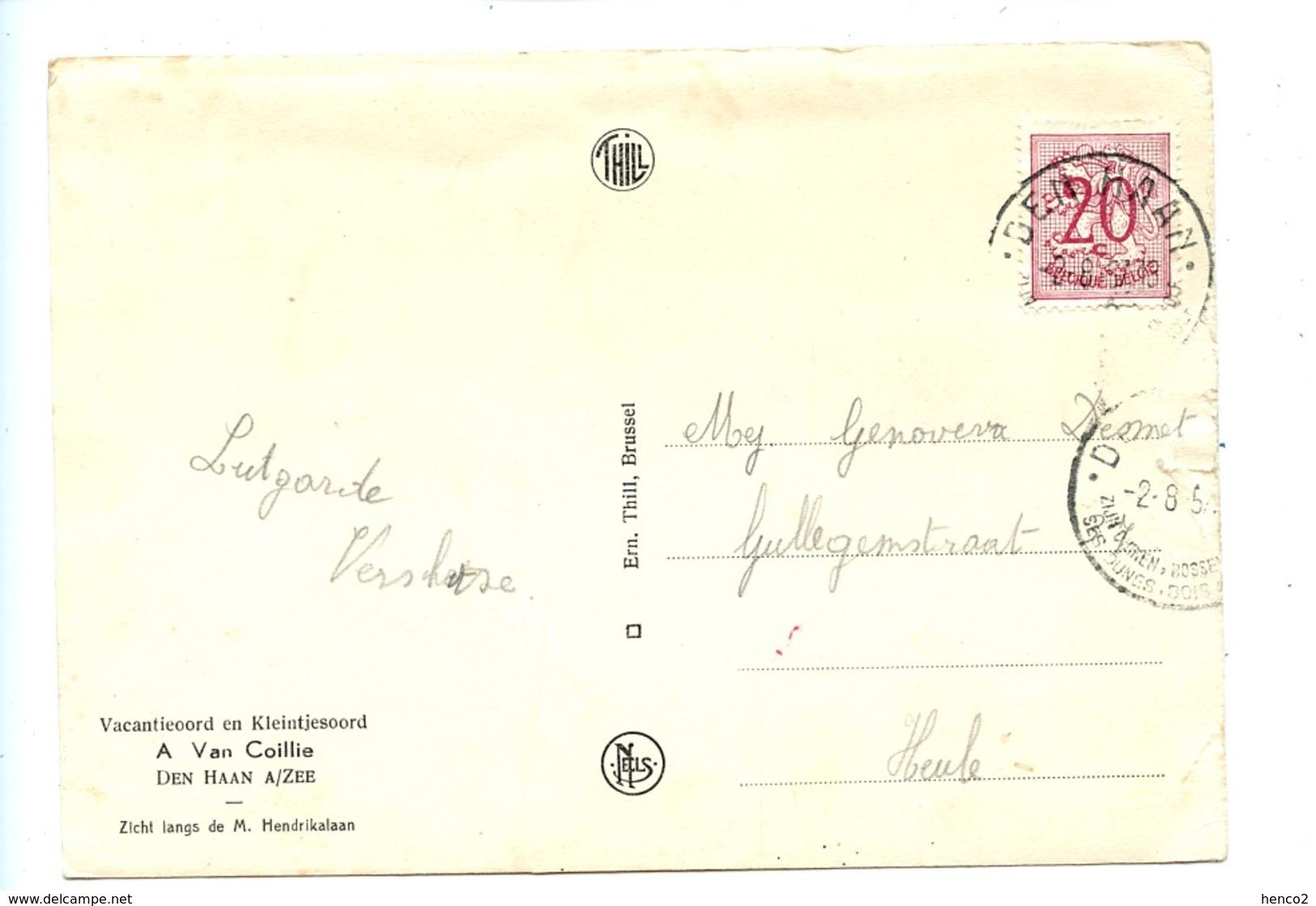 Vacantieoord En Kleintjesoord - A. Van Coillie - Den Haan - Zicht Langs De M. Hendrikalaan - De Haan