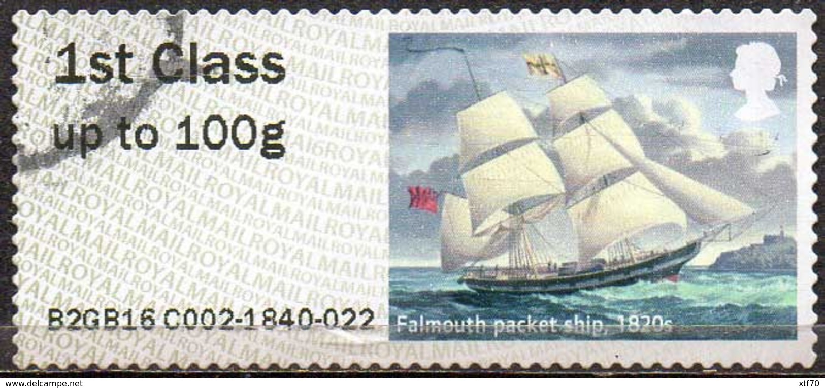 GREAT BRITAIN 2016 Post & Go: Royal Mail Heritage. Transport. Falmouth Packet Ship, 1820s - Post & Go Stamps