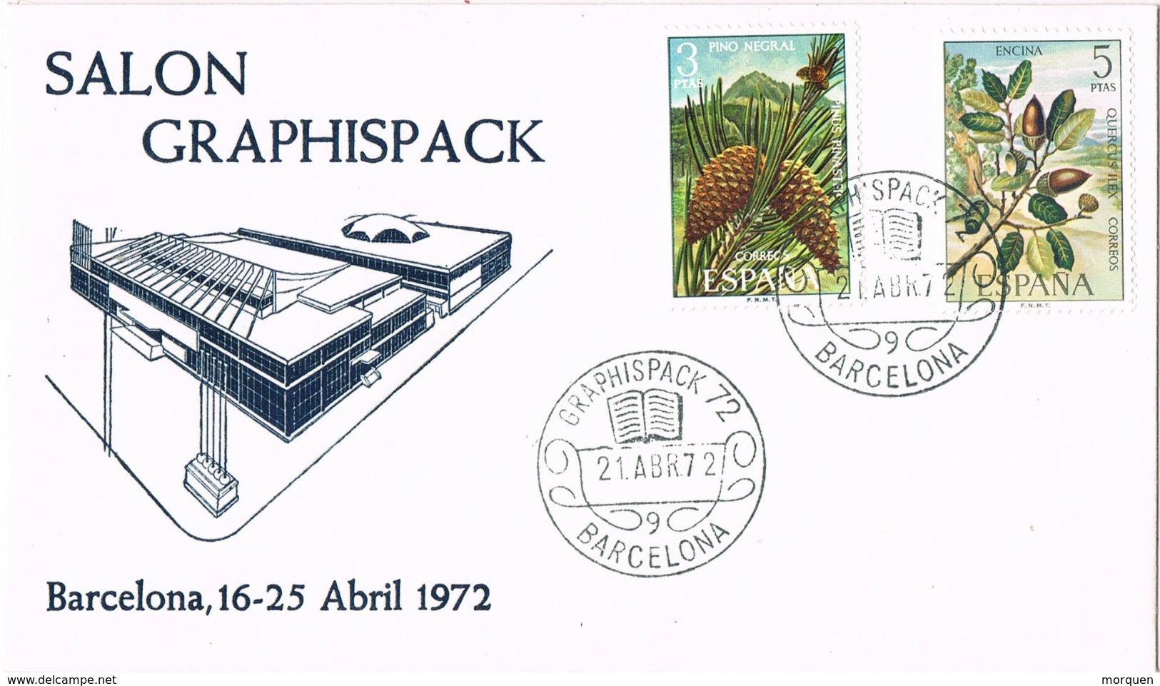 33614. Carta BARCELONA 1972. Salon Graphispack 72, Artes Graficas - 1931-Hoy: 2ª República - ... Juan Carlos I