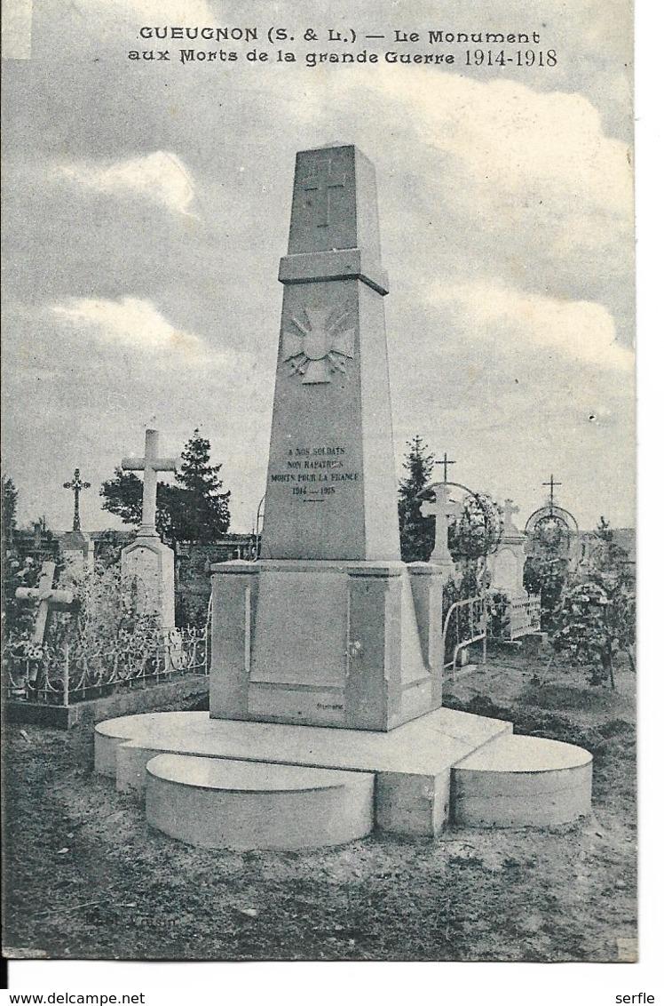 71 - Gueugnon - Le Monument Aux Morts De La Grande Guerre (1914-1918) - Gueugnon